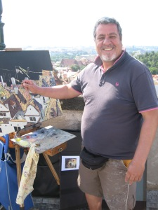 Michael the oil painter, Prague, Czech Republic