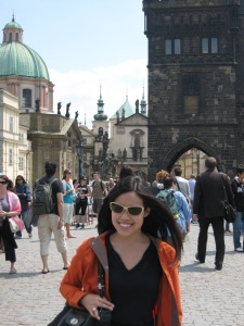 Julie Tam in Prague, Czech Republic