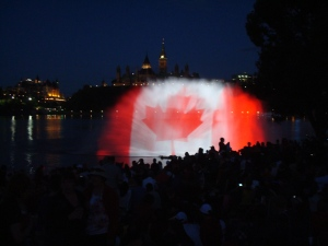 water display on Canada Day at Parliament, Ottawa, Ontario