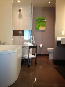 our Vdara hotel suite bathroom