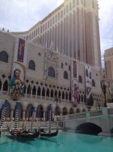 gondolas outside The Venetian